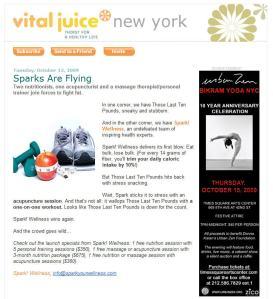 Vital Juice Email